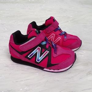 New Balance Baby/Toddler Pink Suede Sneakers